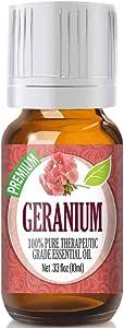 Geranium Essential Oil - 100% Pure Therapeutic Grade Geranium Oil - 10ml