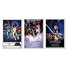 Star Wars Original Classics Movie 24x36 Poster Set Of 3 Art Prints