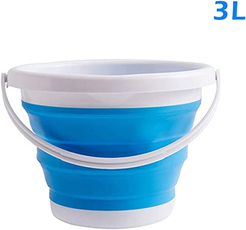 camping senderismo Cubo plegable de silicona de Alextry pesca para viajes azul 10 L