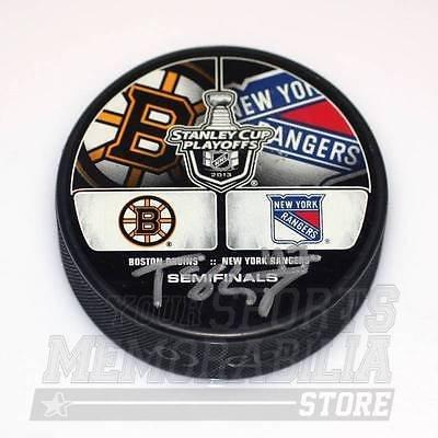 torey-krug-boston-bruins-signed-dual-logo-2013-playoff-hockey-puck-vs-rangers