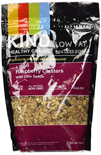 KIND - Raspberry Clusters with Chia Seeds - 11 oz