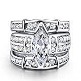 LILILEO Jewelry Luxury 3-Storey Ring High-Grade Zirconia Platinum-Plated Engagement Ring For Women's Rings