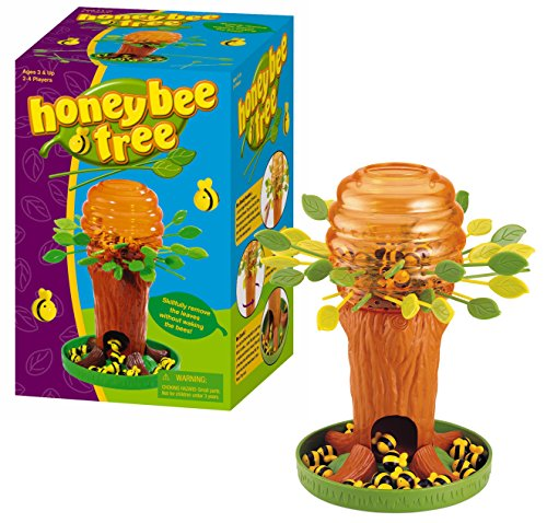 Game Zone Honey Bee Tree Game - Please Don't Wake the Bees - 2 to 4 Players, Ages 3 and Up