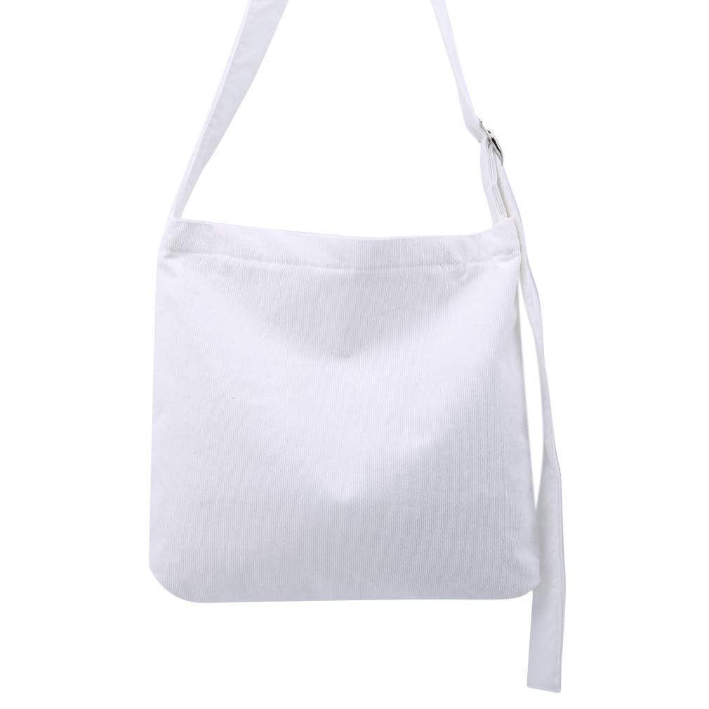 Firecolor Women Corduroy Shoulder Bags Shopping Bags Ladies Casual Beach Bags Girls Student School Bags