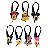Mickey Mouse and Friends Silicone Snap Lock Zipper Pulls 7 Pcs Set #1