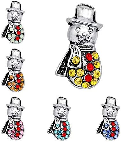YRUI 6 PCS Christmas Brooch Creative Snowman Shaped Brooch Sets Jewelry Accessories for Party Decoration