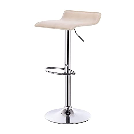 Awe Inspiring Llivekit Kitchen Stools Set Faux Leather Bar Stool Gas Lift Seat Adjust Milky White Gmtry Best Dining Table And Chair Ideas Images Gmtryco