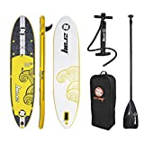 """ZRAY X2 - All Around Inflatable Stand-Up Paddle Board 10'10"""" iSUP Package - Pump/Paddle/Fin/Backpack Included, 6x30x130-inches"""