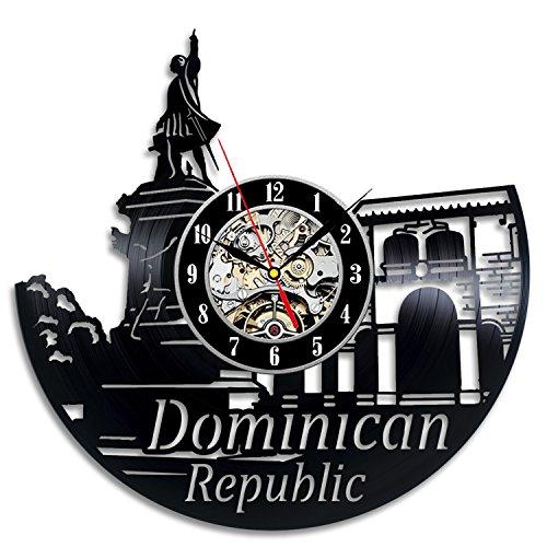 Dominican Art Vinyl Record Clock Wall Decor Home Design