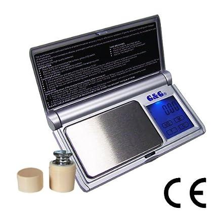 G&G - Báscula digital de precisión - Peso máximo: 50 g / Granularidad: 0,005