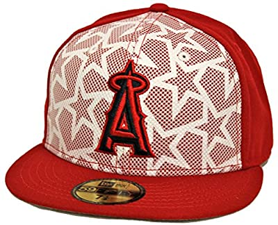 New Era 59Fifty July 4th Los Angeles Angels of Anaheim Red Fitted Cap