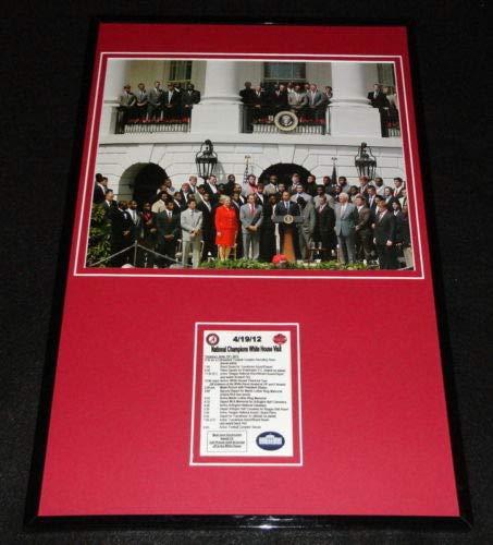 2012 Team Framed Photo - 2012 Alabama Crimson Tide White House Visit Framed 12x18 Team Photo Display