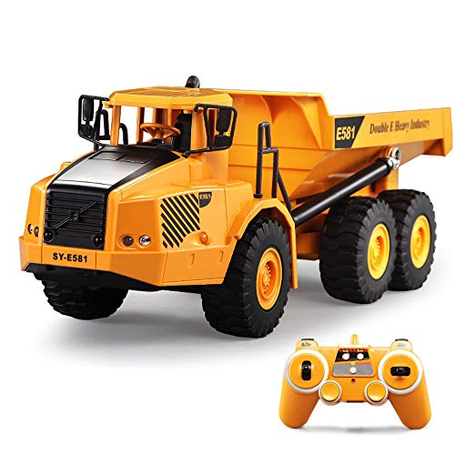 SXPC 2.4G Remote Control car RC Articulated Dump Truck Electronic Engineering Vehicle Building Model Children's Toys Gift Toys