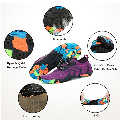 Socks Yoga Dry Men WYSBAOSHU Athletic Pool for Aqua Beach Shoes Sports Water 5 Walking Women purple Quick Shoes Barefoot 0aSxqHwa