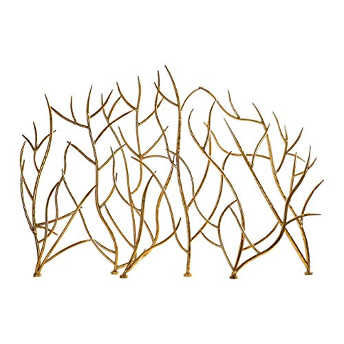 Uttermost 18796 Gold Branches Decorative Fireplace Screen Autumn Leaf Fireplace Screen