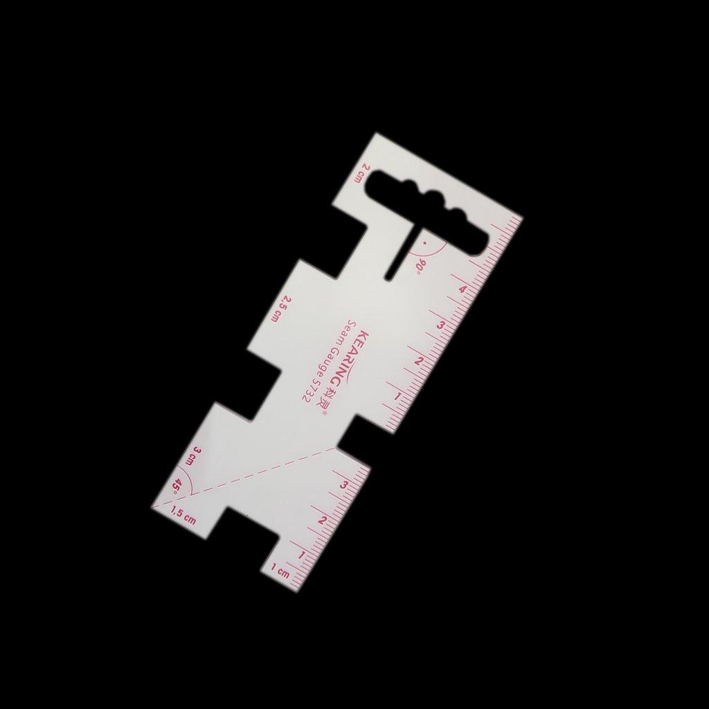 perfk R/ègle De Mesure Couture Fabrication Tricotage Outil Id/éal pour les Ourlets Coutures
