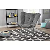 Mainstay Butterfly Chair, Grey