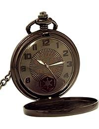 Star Wars Boy's SWCAQ063 Black Stainless-Steel Quartz Pocket Watch