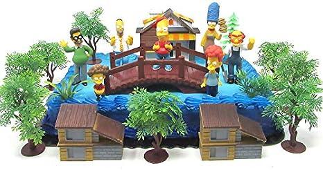 Astonishing Amazon Com The Simpsons Birthday Cake Topper Set Featuring Bart Personalised Birthday Cards Veneteletsinfo