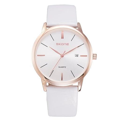 relojes minimalistas para hombres y mujeres/reloj del cuarzo del calendario/ reloj resistente al agua ultra-delgado-hombre 1: Amazon.es: Relojes