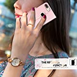 FYY Leather Case with Mirror for iPhone 8