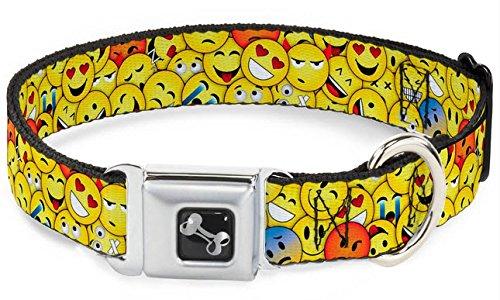 (Buckle Down Emojis Dog Collars (Wide Ribbon Width (1.5