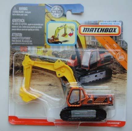 - Matchbox CONSTRUCTION, ORANGE/YELLOW EXCAVATOR WORKING RIGS