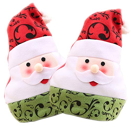 OLABB Santa Hat Christmas Cap for Kids and Adults Funny Party Hats for Holidays Decoration and Celebration 2 Pack