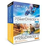 Software : Cyberlink PowerDirector 16 & PhotoDirector 9 Ultra - DVD/CD with Digital Download Copy