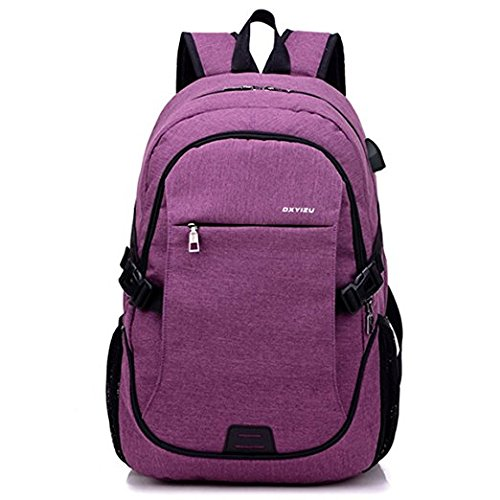 1046dd46e0a ACEDICHY Laptop Backpack,Business Waterproof Laptop Notebook Backpack with  USB Charging Port, College School Travel Bag for Men Women (Purple)   Amazon.ca  ...