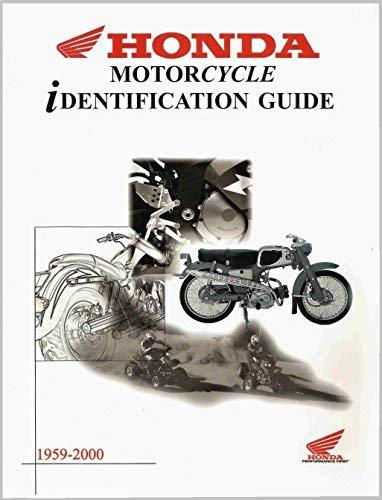 1959-2000 Honda Motorcycle Identification Guide