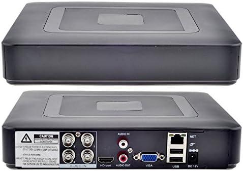 CCTV 4CH IR Security Camera System AHD 960P 4CH 5-IN-1 Hybrid DVR Kit Phone View