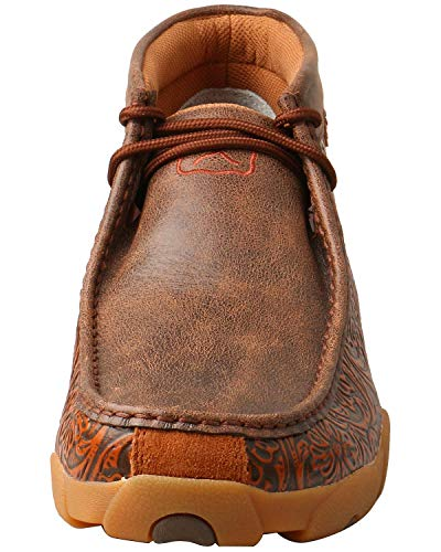 Driving 11 Moccasins Tooled Men's Brown Toe D Moc Twisted X TSvvt