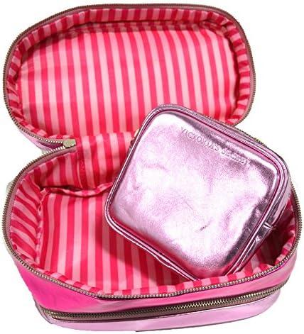 Victoria's Secret 3-Piece Pink Cosmetic Travel Bag