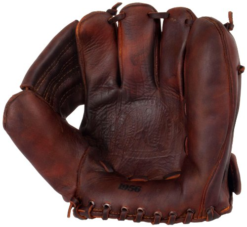 Old Time Baseball Mitt (Shoeless Joe Gloves 1956 Fielders Glove, Brown, Right Handed)