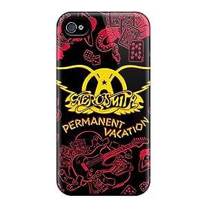 Iphone 4/4s Lcn596uAdO Unique Design Nice Aerosmith Band Series Best Hard Cell-phone Cases -LauraAdamicska
