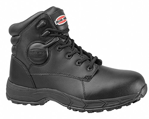 Athletic Boots, Stl Toe, 6In, Blk, 13, PR
