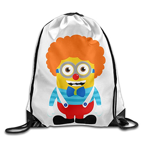 Bekey Cute Clown Minions Gym Drawstring Backpack Bags For Outdoor And Sports Activities (Resident Evil 0 Pc Costumes)