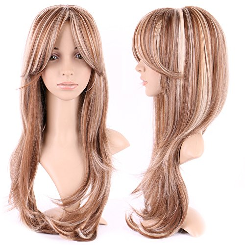 S-noilite Women Long Natural Straight Wig Ombre Mix Cosplay Daily Party Dress Full Wigs (1920 Hairstyles For Long Hair)