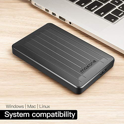 160GB Portable External Hard Drive- 2.5 Inch External Hard Drives for Laptop,Desktop,Wii U,MacBook,Chromebook (160GB, Black) by Maxone (Image #3)