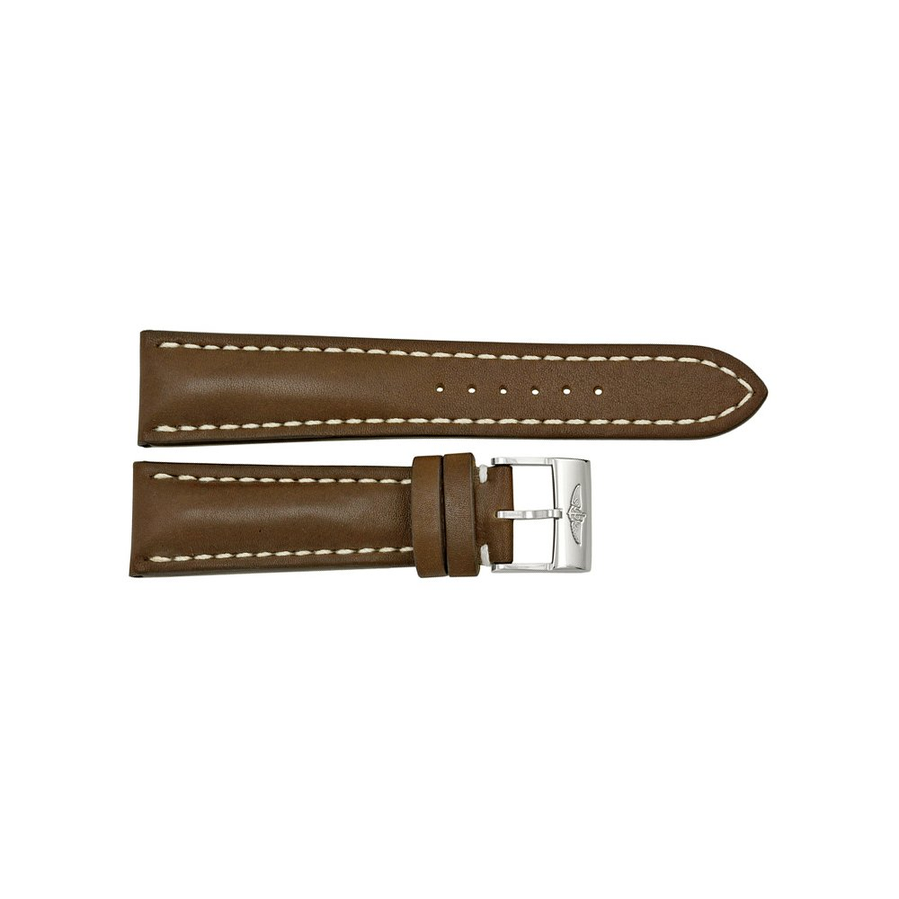 Breitling 24 - 20 mm Brown Leather Strap by Breitling