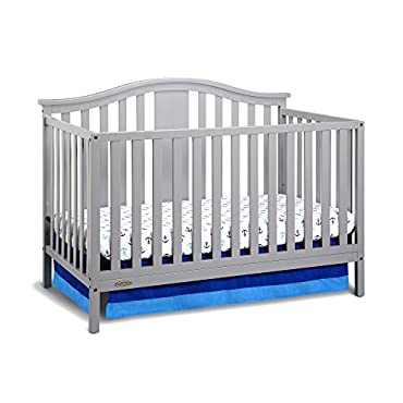Graco Solano 4-in-1 Convertible Crib with Mattress in Pebble Gray