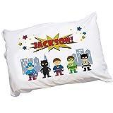 MyBambino Personalized Boys Super Hero Design Pillowcase