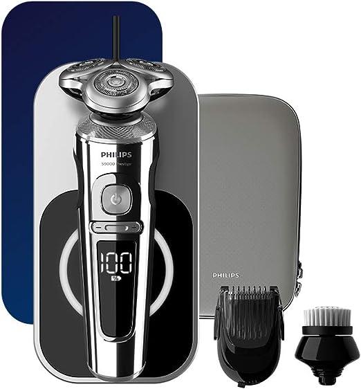 Philips Serie 9000 Prestige Wet & Dry - Máquina de afeitar eléctrica con carga Qi, Smartclick para barba y cepillo de limpieza facial – Sp9863/14: Amazon.es: Salud y cuidado personal