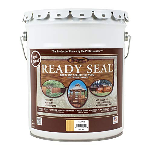 - Ready Seal 505 5-Gallon Pail Natural (Light Oak) Exterior Wood Stain and Sealer