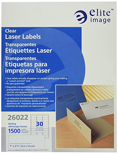 Elite Image Laser Labels (Elite Image Clear Address Laser Labels (ELI26022))