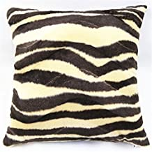 "Lydealife (TM) Super Soft Short Plush Animal markings Decorative Throw Pillow Cover Pillow Case Pillowcase Cushion 18"" X 18"" LD100 (Zebra-stripe)"