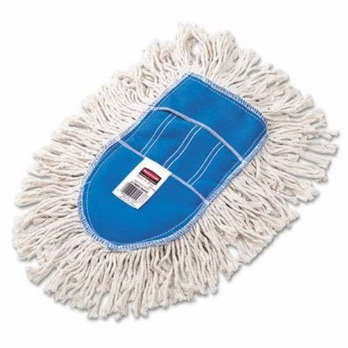 Rubbermaid Commercial Trapper Wedge Dust Mop Head, White, Cut-End, Cotton - Includes one each.