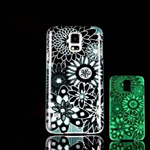 ZXC Flowers Pattern Glow in the Dark Hard Case for Samsung Galaxy S5 I9600