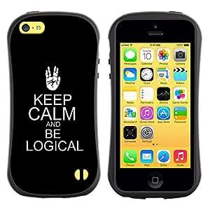 Suave TPU GEL Carcasa Funda Silicona Blando Estuche Caso de protección (para) Apple Iphone 5C / CECELL Phone case / / be logical keep calm black trek sci-fi /